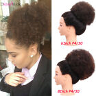Synthetic Curly Afro Puff Ponytail Elastic Drawstring With Clip Hair Extensions
