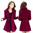 Women Winter Warm Korean Long Coat Jacket Ladies Fashion Tre