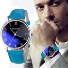 Luxury Fashion Leather Mens Watches Stainless Steel Analog Quartz Watch New