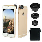Universal 3 in1 Magnetic Camera Lens Wide Angle+Fish Eye+Macro for Mobile Phone