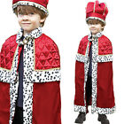 Kids King Costume Fancy Dress Crown Cape Nativity 3-11 Years Historical Amscan