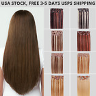 "Economical Remy Clip in Human Hair Extensions 15""-30"", Free USPS Mail USA Stock"