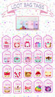 NUM NOMS Thankyou loot bag party favour swing tags labels girls birthday favors