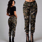 Ladies Fashion Military Army Style Pocket Leggings Camouflage Camo Casual Pants