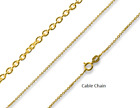 GENUINE Solid 9k Yellow Gold Italy 40,45,50,55,60 cm Diamond cut box/curb chain