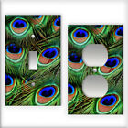 Peacock Pattern - Light Switch / Outlet Cover All Styles D0037