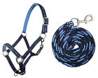 ***HKM STARS HEADCOLLAR AND LEAD ROPE SET RED- BLACK-BLUE-GREY-PINK***