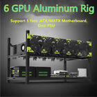 6 8 GPU Aluminum Stackable Open Air Mining Case Computer Frame Rig for Ethereum