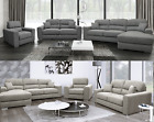 Marinelli Eton 3 + 2 Seater Sofa Set Fabric White Linen Dark Grey OR Beige