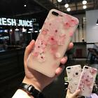 For iPhone X 8 6s 7 Plus Flower Case Shockproof Soft TPU Rubber Slim Cover Women