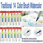 7 14 Pc Platinum Traditional WaterColor Chinese Japanese Calligraphy Brush Pen