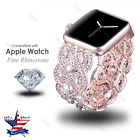 S/L For Apple Watch 38 42mm Crystal Rhinestone Diamond watch Band Strap Bracelet image