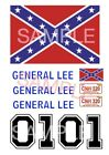 General Lee 1:10 , 1:18, 1:24 or 1:32 scale water slide decals on Clear Backing