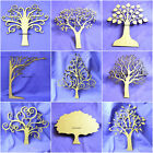 Lasercut 3mm MDF Family Tree Kit Set with 10 Hearts, Wooden Craft Blank