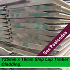 16mm x125mm Redwood Shiplap Tanalised Timber  Shed Cladding100 mts Minimum Order