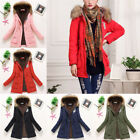 Women's Jacket Winter Solid Hooded Coat Casual Outerwear Parkas Jacket``2qp