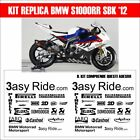 KIT 38 ADESIVI sponsor BMW S1000rr replica superbike moto decal carena sbk 2012