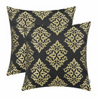 2PCS Square Pillows Shell Cushion Covers Throw Vintage Damask Floral 45cmX45cm