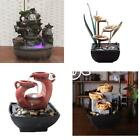 Fashion Relaxation Fountain Waterfall Desktop Small Water LED Sound Table Decor