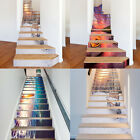 13Pcs 3D Selfadhesive Staircase Stair Riser Floor Sticker DIY Wall Decal Fashion