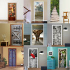 2pcs 3D Door Wall Fridge Sticker Wrap Mural Scene Self Adhesive Home Decor Decal