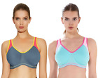 Freya Active Sonic  4892 Underwired Moulded New J Hook Sports Bra