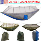 Portable 2 Person Mosquito Net Hammock Hanging Tent Bed Sleeping Outdoor Camping