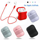 Protective Silicone Case Cover for Apple AirPods with AirPod Strap Charging