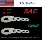 "1/4"" 5/16"" 3/8"" 1/2 5/8 3/4 SAE Imperial Inch Plastic Nylon Washer Flat Spacer"