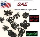 "Black Nylon Washers 1/4 5/16"" 3/8"" 1/2"" SAE Imperial Inch Plastic Flat Spacer"