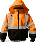 Hi-Vis Insulated Bomber Jacket Orange S-5XL Class 3 Meets ANSI/ISEA 107-2010