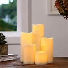 Cylindrical LED Battery Romantic Candles Flameless Birthday Party Home Decor New