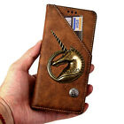 New 3D Unicorn Retro Wallet Flip Magnetic PU Leather Phone Case Cover For Asus