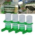 US 4pcs Pets Bird Food Water Feeder Drinker Waterer Clip For Aviary Cage Budgie