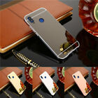 Full Cover Mirror Back Cover+ Aluminum Metal Bumer Frame Case For Huawei Series