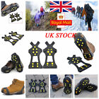 UK Studs Non-Slip Spikes Boot Walk Cleats Shoes Cover Ice Snow Grippers Crampons