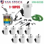 LOT Aquarium Fish Tank External Filter 6W HW-603B Canister Water Pump 400L/h BP