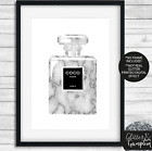 Fashion art marble Iconic Perfume Bottle beauty office bedroom wall pink Art