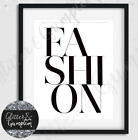 Fashion Art Typgraphy 'FASHION' Bedroom office beauty wall art print colours