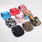 Pet Dog Baseball Hat Summer Canvas Cap Small Dog Outdoor Accessories 9 Colors