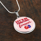 Let's Be Together Forever- Handmade Stainless Steel Circular Pendant Necklace an