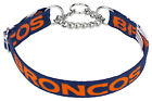 Country Brook Design® Broncos Orange Designer Half Check Dog Collar