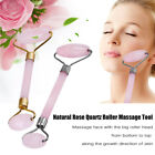 Rose Quartz Dual-head SPA Facial Neck Beauty Massage Roller Face Thin Massager