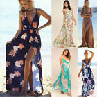 Celeb Womens Summer Boho Long Dress Ladies Strappy Casual Beach Maxi Sun Dresses