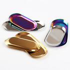 Metal Storage Tray Stainless Steel Jewelry Holder Tray Dessert Plate Decorative