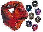 Floral Snood Womans Fashion Cowl Neck Warmer Flower Print Snood Tube Scarf Cheap