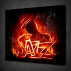 ABSTRACT JAZZ MUSIV FIRE CANVAS PICTURE PRINT WALL ART FREE FAST DELIVERY