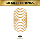 Better Crafts METAL GOLD RINGS,  Durable & Strong,  All Sizes,  Many Packs .