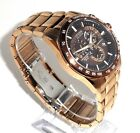 CITIZEN MEN'S $650 ECO-DRIVE ROSE GOLD ATOMIC WORLD TIME ALARM WATCH  AT4106-52X