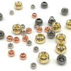 COUNTERSUNK TUNGSTEN BEADS - Fly Tying Black Copper Gold Nickel 7 Sizes Hareline